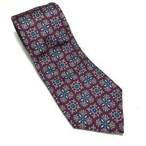 Christian Dior Geometric Tie - 100%silk 56Lx3.5W